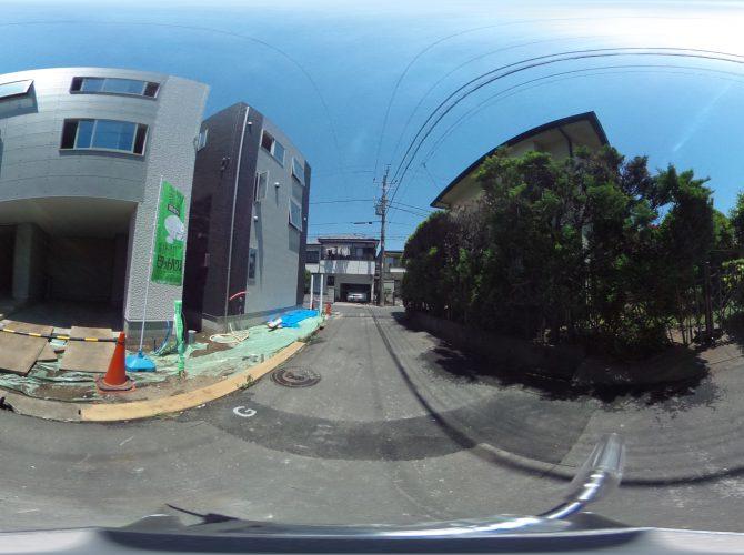 前面道路を含む現地画像