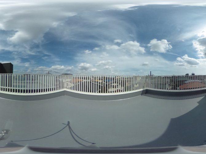 屋上スカイテラスからの眺望
