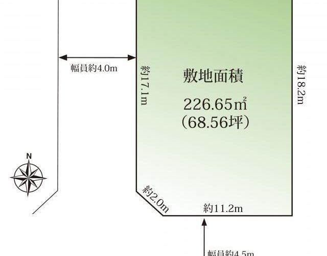 藤原6丁目【建築条件無】