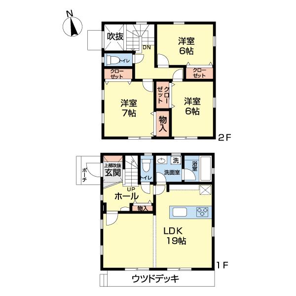 モデルハウス・区画F・間取り図