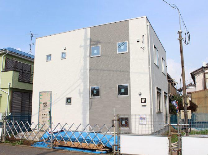 区画F 108.72㎡(32.72坪)モデルハウス建築中