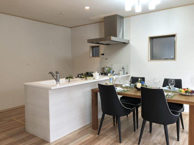 現地 F区画・モデルハウス・キッチン写真(2020年7月撮影)