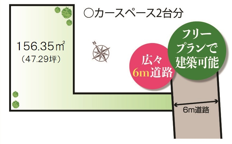 A区画・建物フリープラン売地・区画図