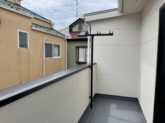 2階 7畳洋室バルコニー(2021年9月撮影)