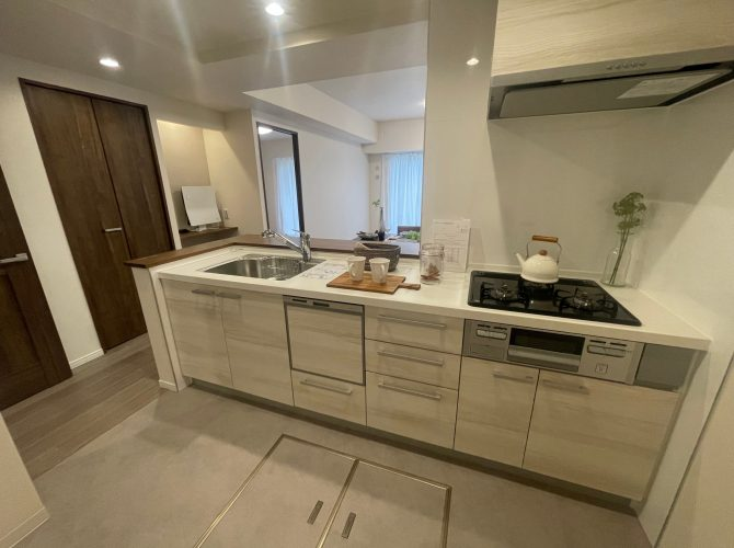 システムキッチン(食洗機付) ◆広さが約3.3帖あり広々と使えます